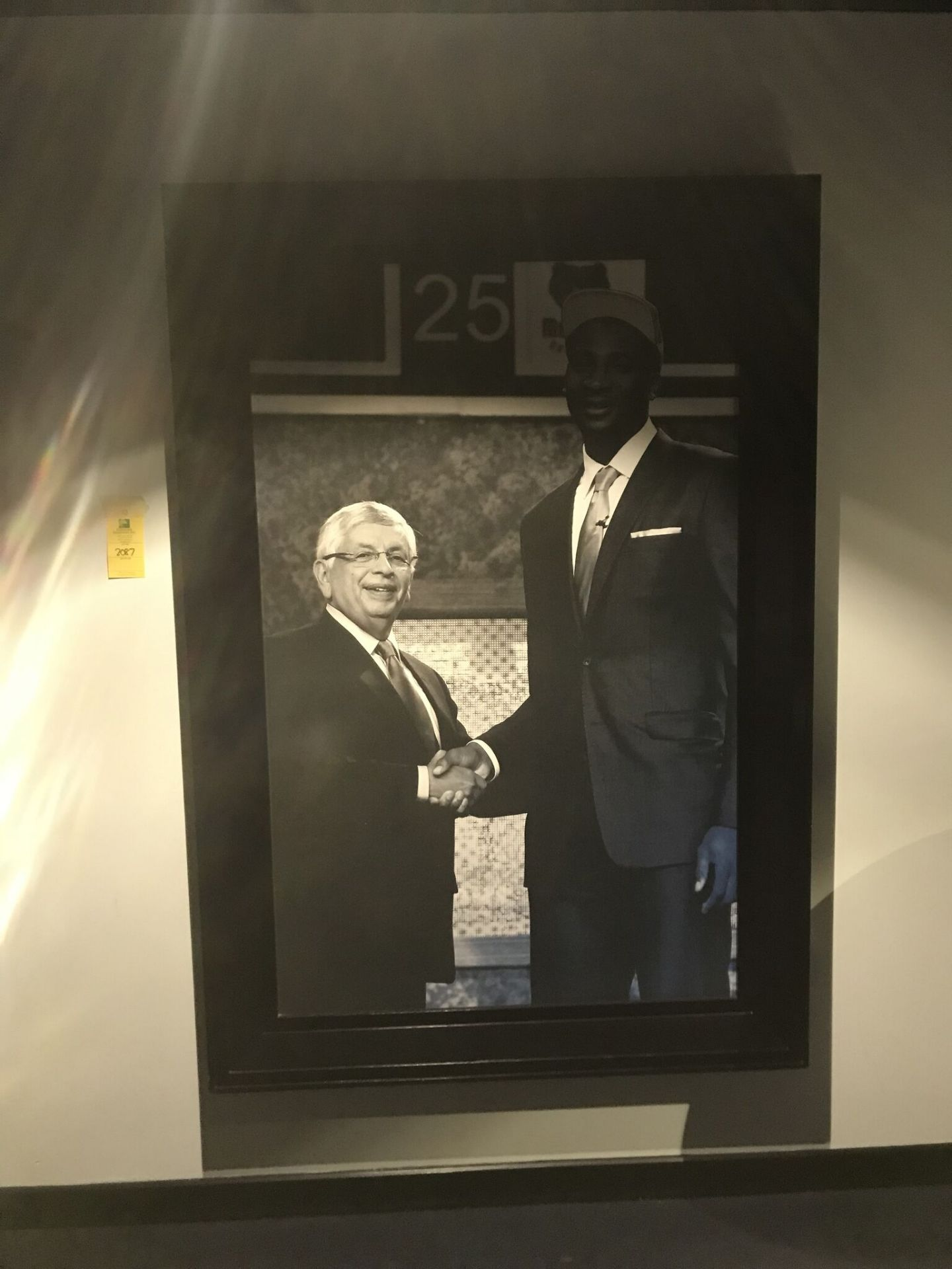 Lot 2087 - Andre Drummond & David Stern at NBA Draft , Location: 2nd Floor Executives Club ***Note from