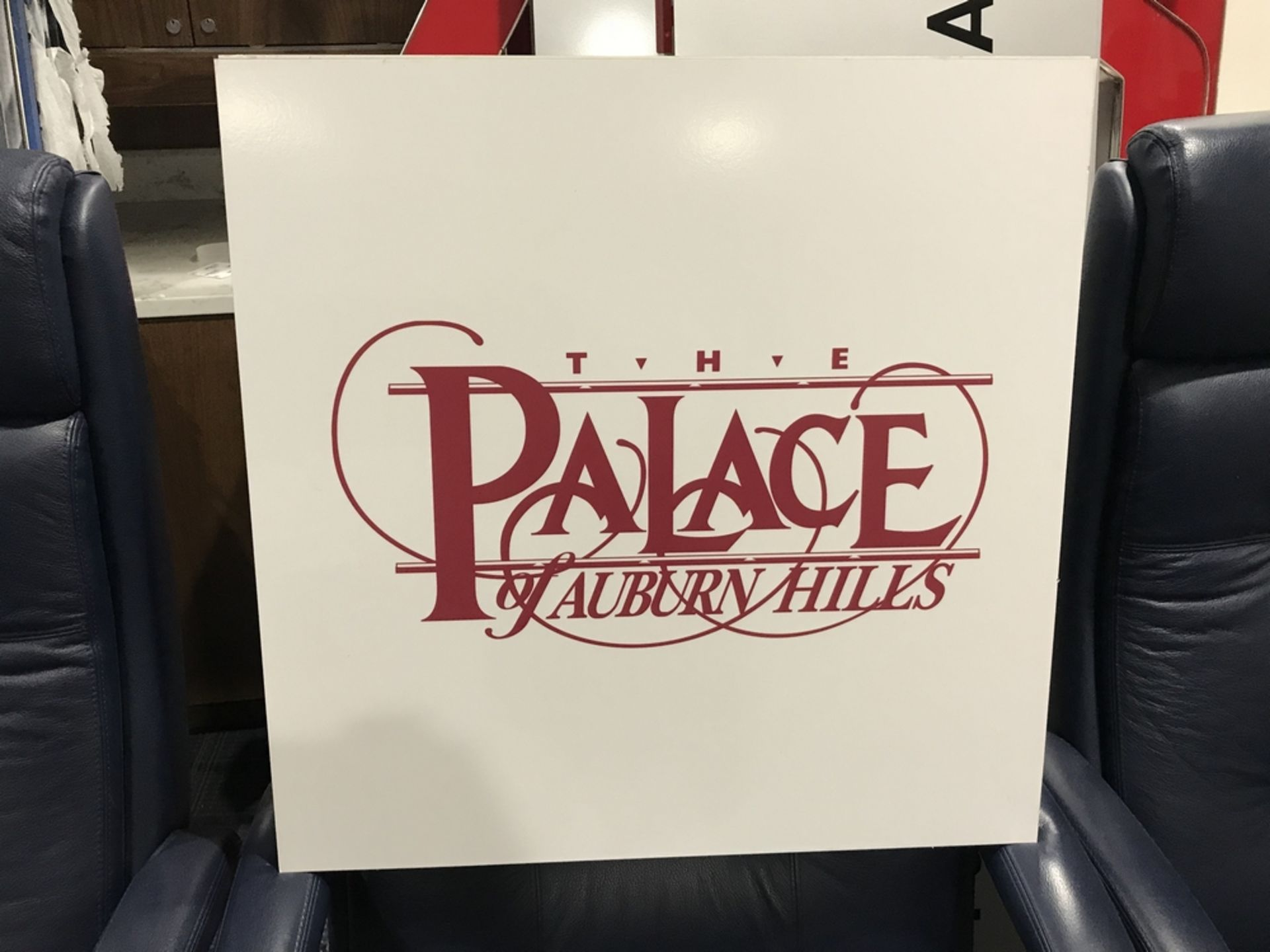 "Lot 18I - ""The Palace of Auburn Hills"" Sign , Dim. 24 in x 24 in , Location: Suite ***Note from Auctioneer***"