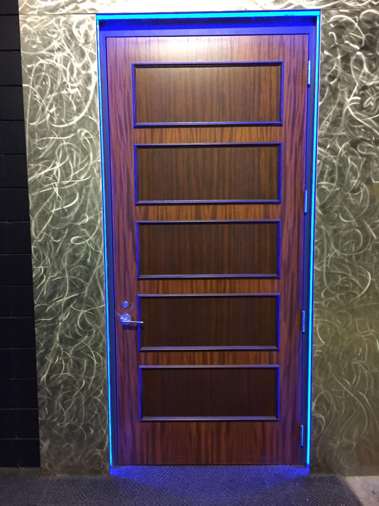 Lot 1Q - Wooden Locker Room Door, approx. 4 ft. wide x 9 ft. high.