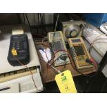 204C Oscillator Hewlett Packard & Fluke 8060A True RMS Multimeter & Tenma Audio Generator TGP110