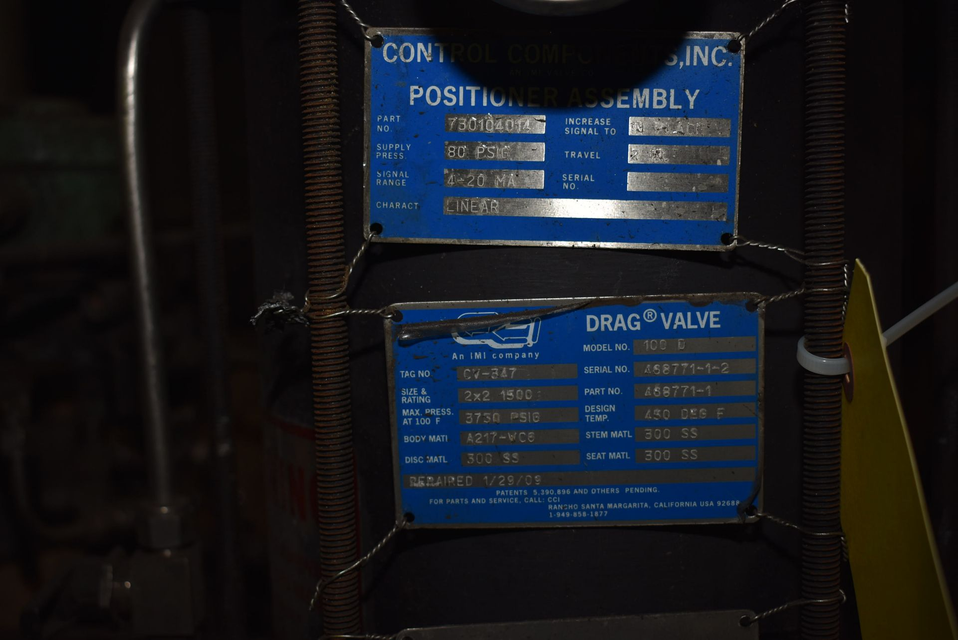 Lot 39 - (4) Control Components, Part #730104014 Positioner Assembly/2 x 2 Drag Valve
