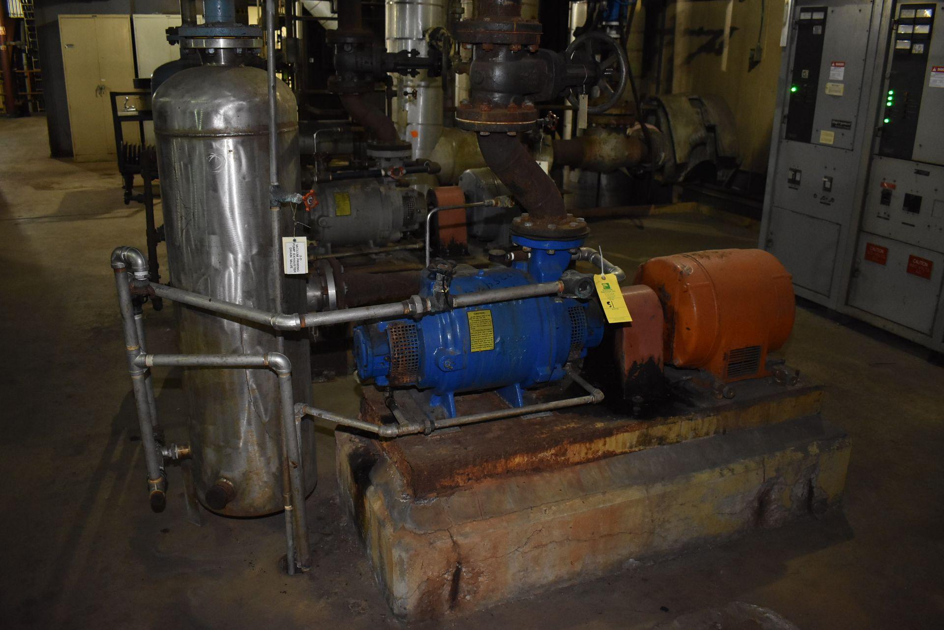 Lot 51 - Nash Type SC475 Vacuum Pump w/5 HP Motor w/Tank