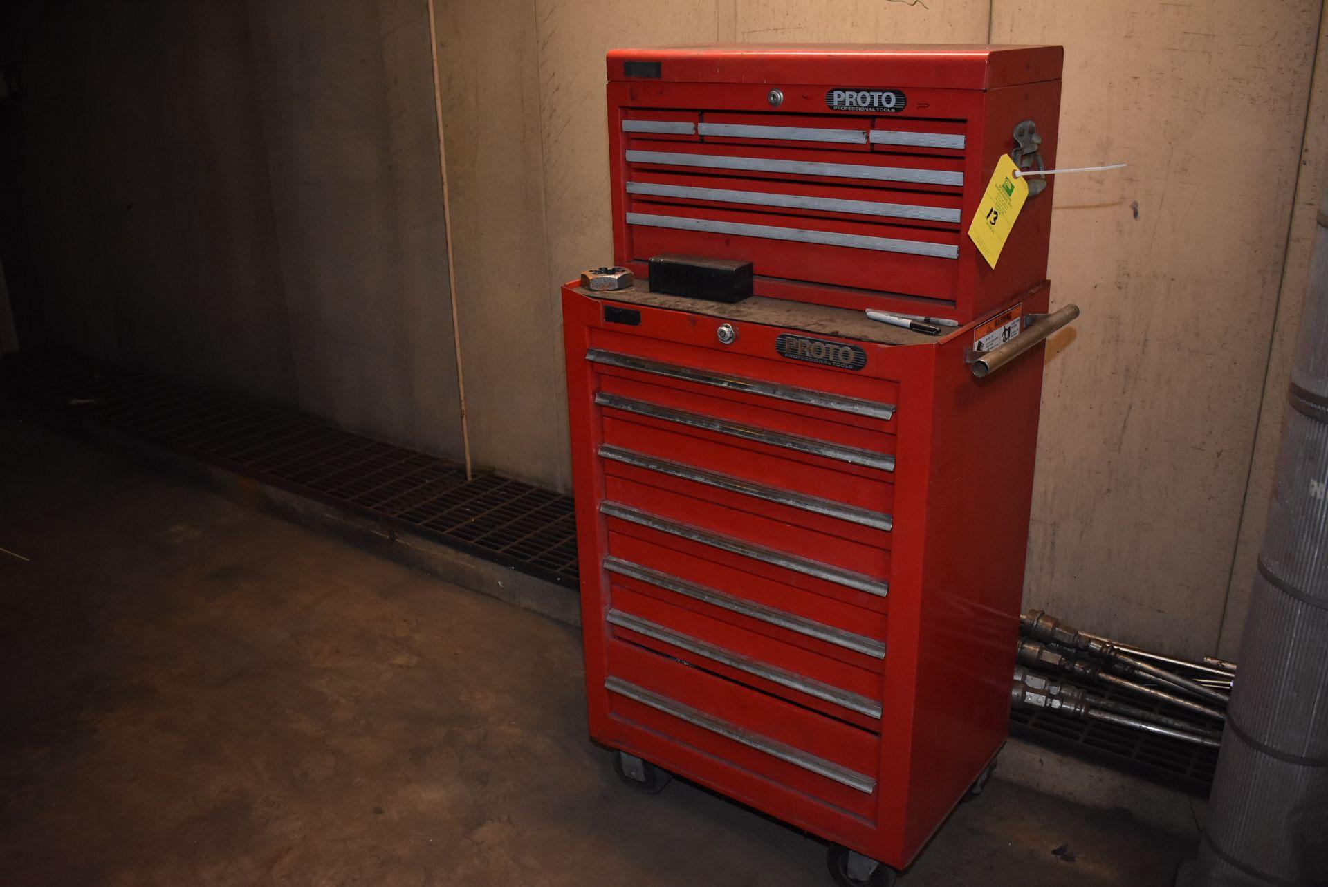 Lot 13 - Proto 11-Drawer Tool Box, 4-Wheel Base