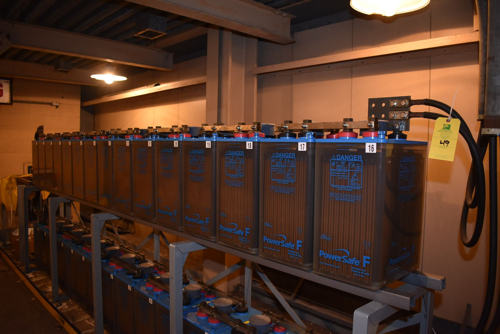 Lot 49 - 2013 Power Safe Type FTA-21P Nom-Capacity 1680 Amps/HR (1-Bank of 15)