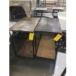 (2) Steel Rolling Carts, 20 in wide x 3 ft long x 33 in tall, Removal Fee: $20