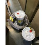 (2) Proof Coil Chains, Steel, Grade 30, 3/8 in, 60 ft, and Misc. Hose, Removal Fee: $20