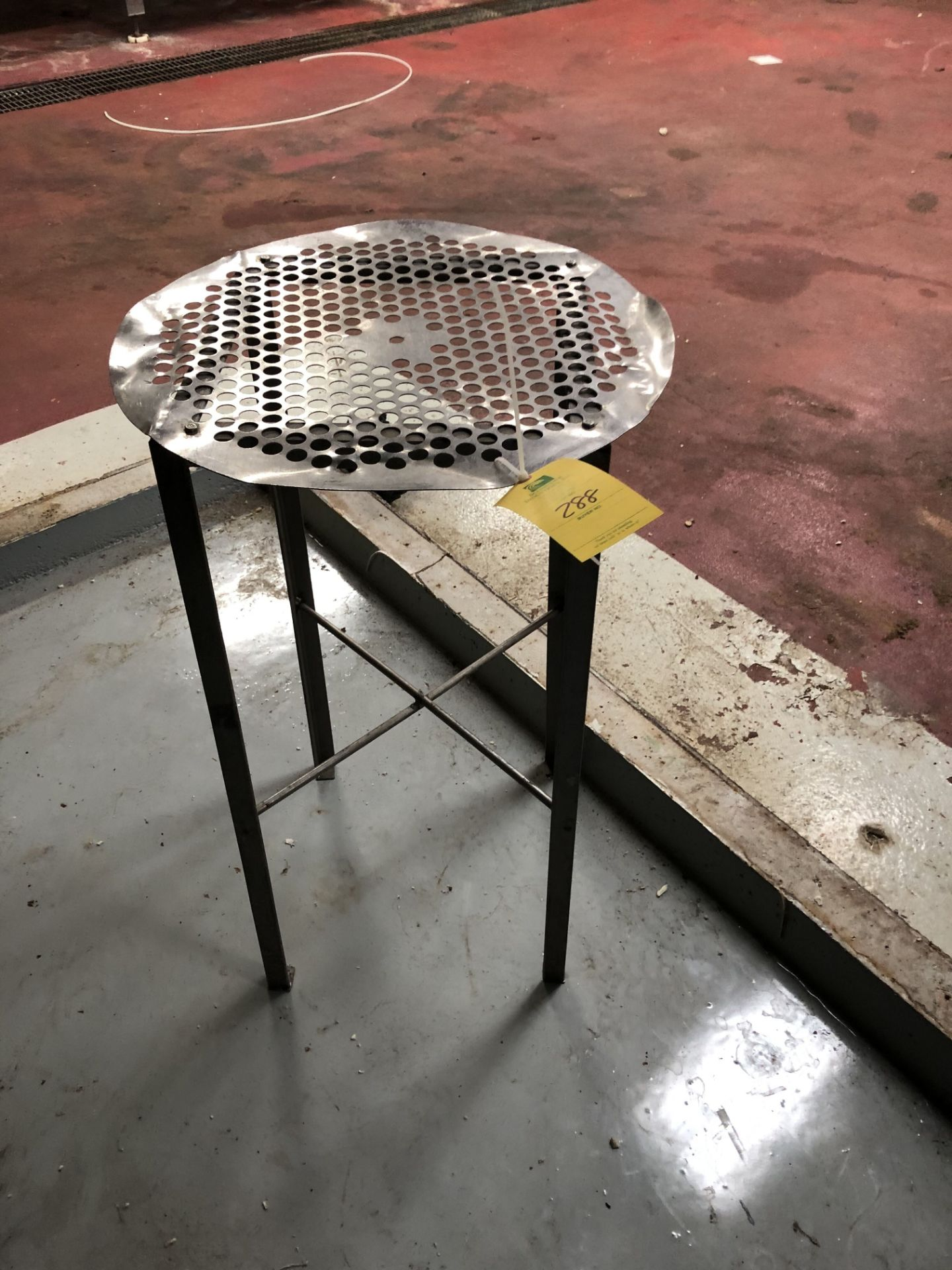 Lot 288 - Round Punch-Hole Table, L = 24'', W = 24'', H = 37''