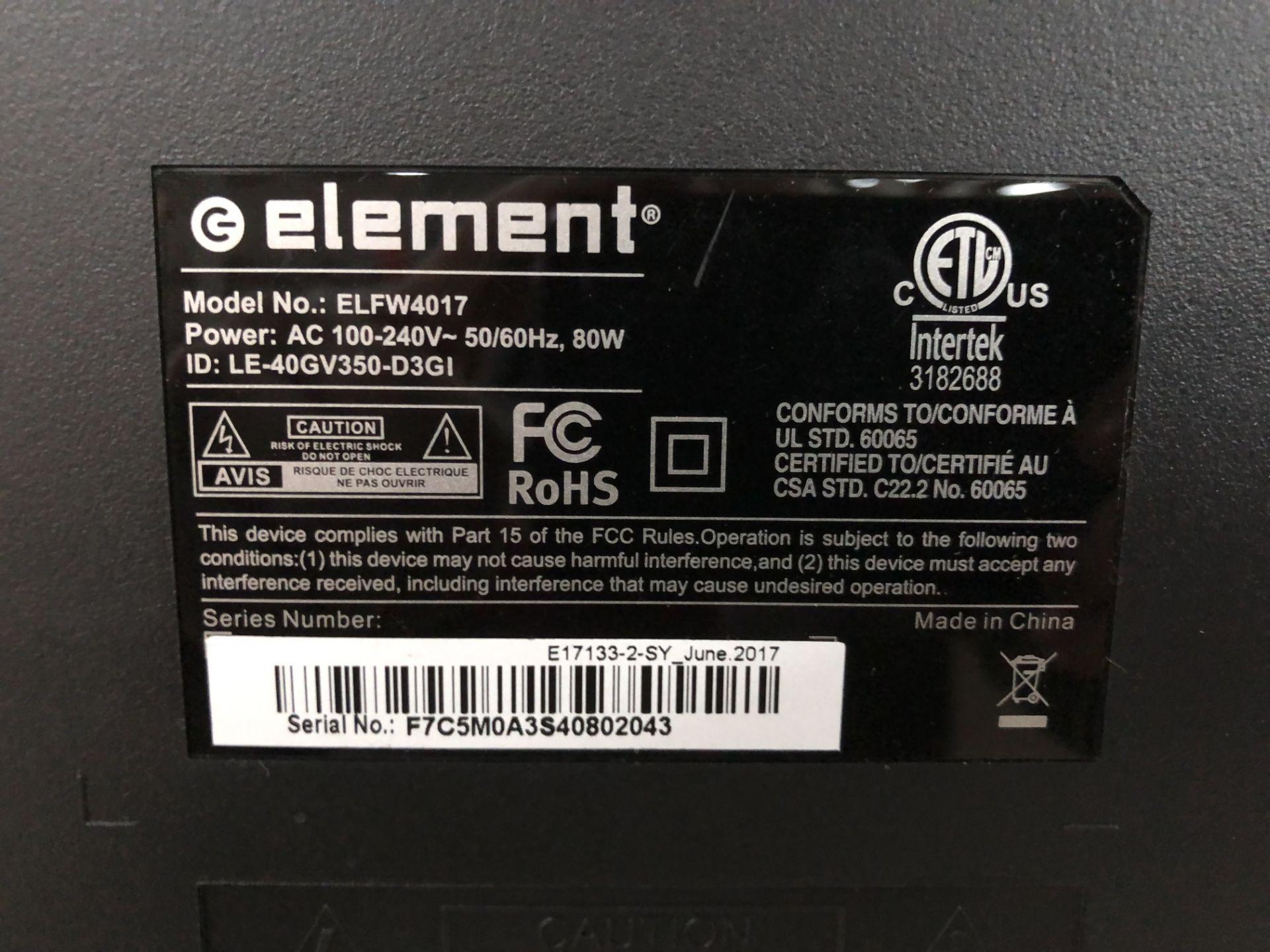 Lot 145E - Element TV, Model #ELFW4017