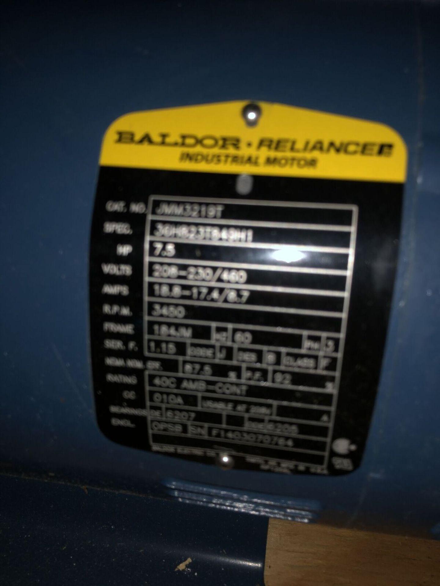 Lot 12 - Baldor 7.5 HP Motor & Pump