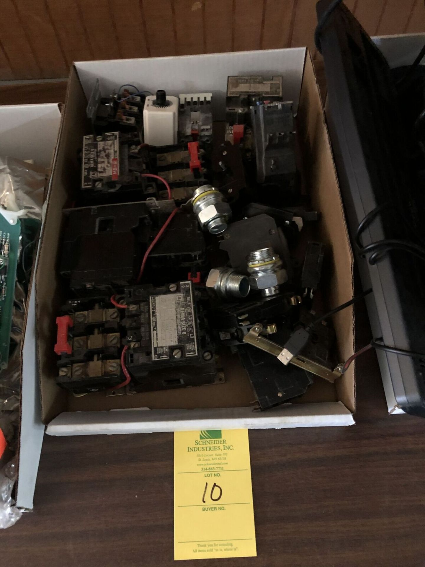 Lot 10 - Box of Electrical Components