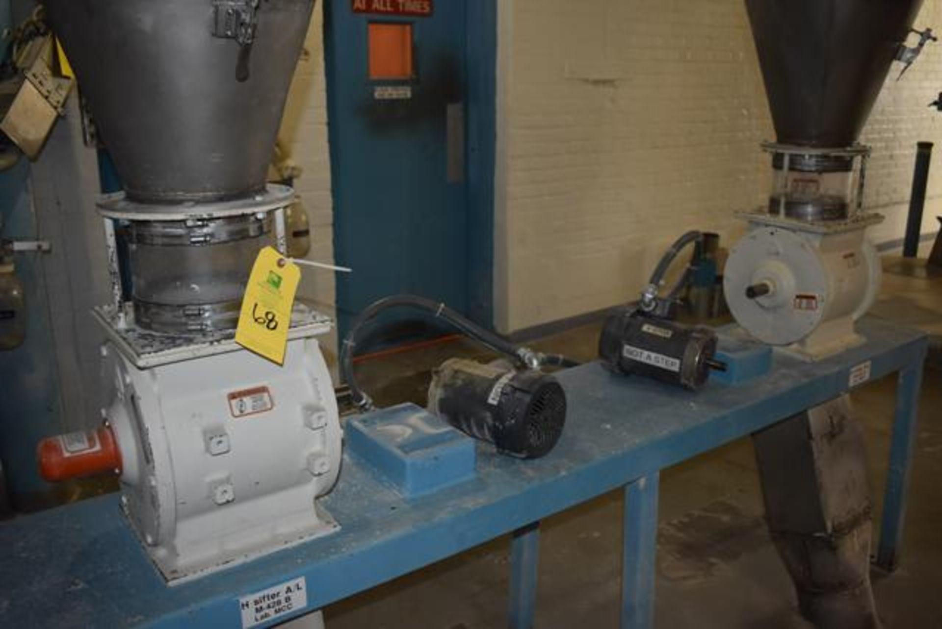 Lot 68 - Qty. (2) KICE Model #VJ10x8x8 Rotary Valves, Includes Cyclones