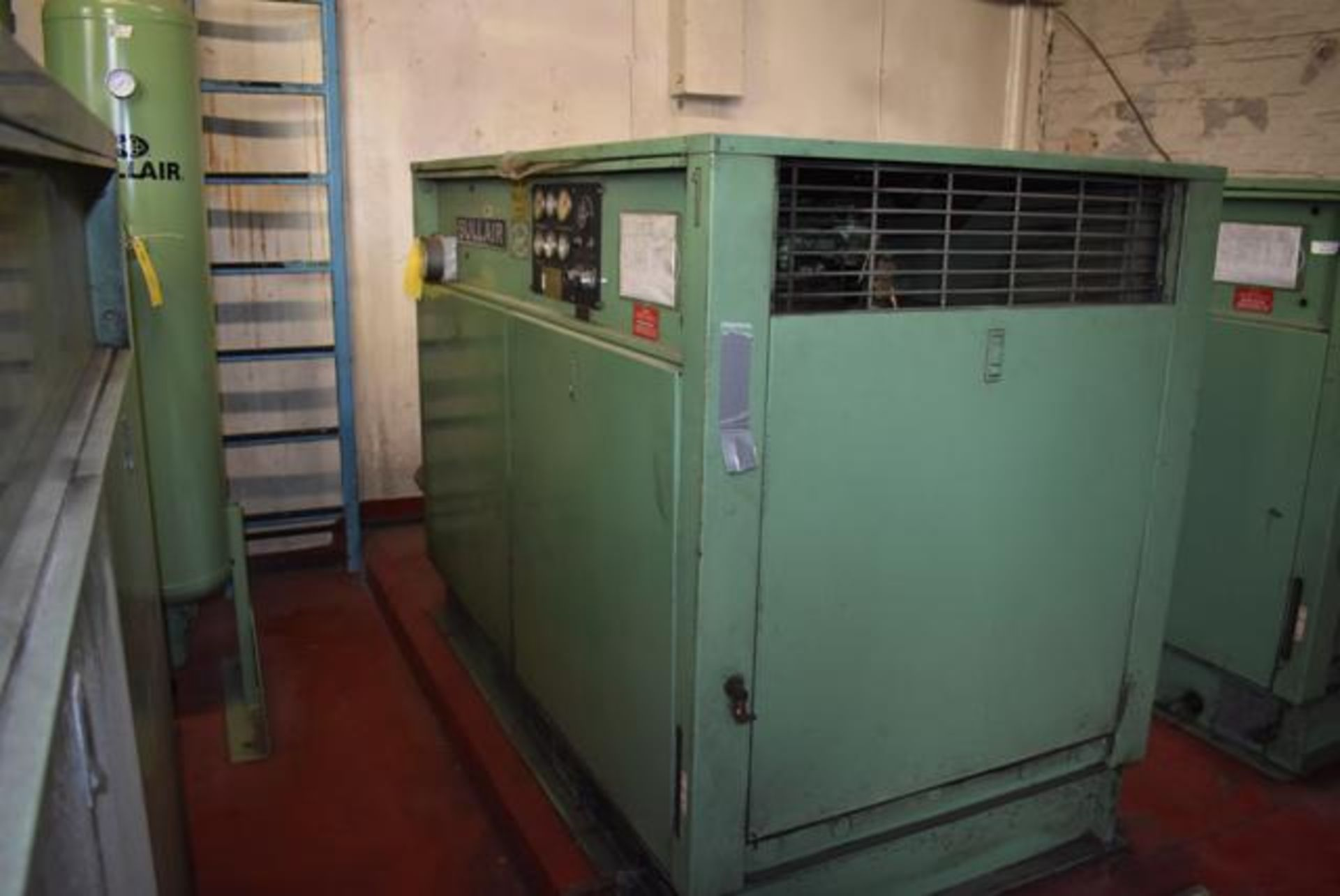 Lot 340 - Sullair Model #12B-40H Rotary Screw Air Compressor, 40 HP Motor, 14051 Hrs. Indicated