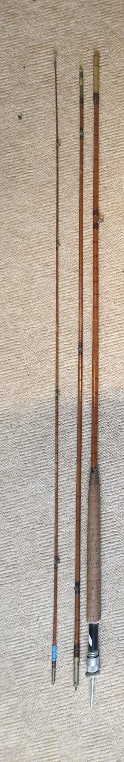 Lot 746 - A good Hardy and Sons Palakona Split Bamboo Rod in three sections.