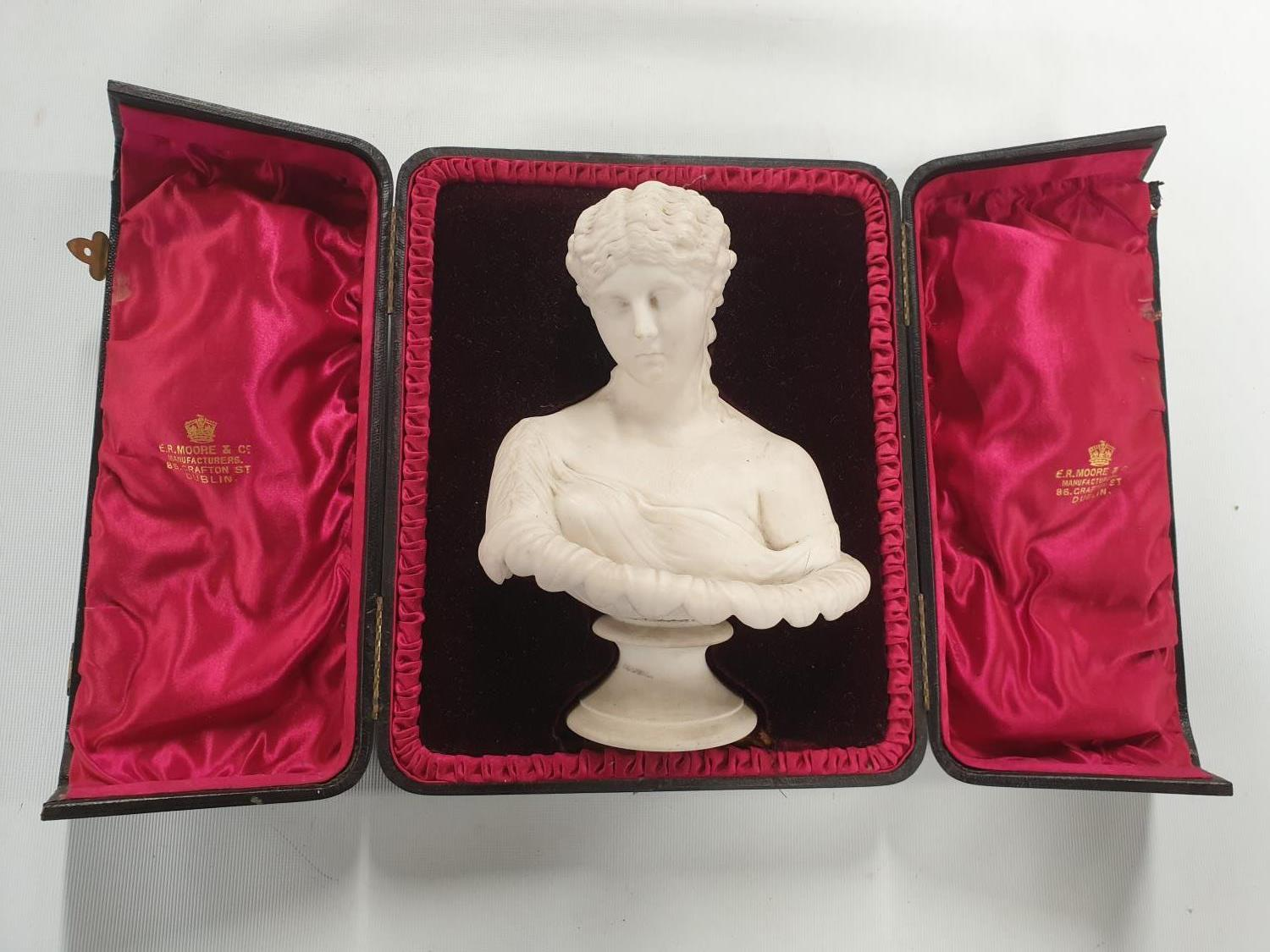 Lot 328A - A really good Parian figure of a Lady, Cased.