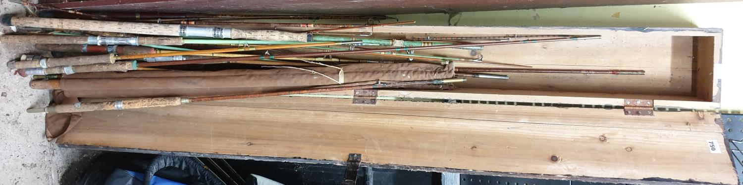 Lot 750 - A large quantity of Rod parts to include two pieces of a Hardy's Palakona Rod and a Pine case.