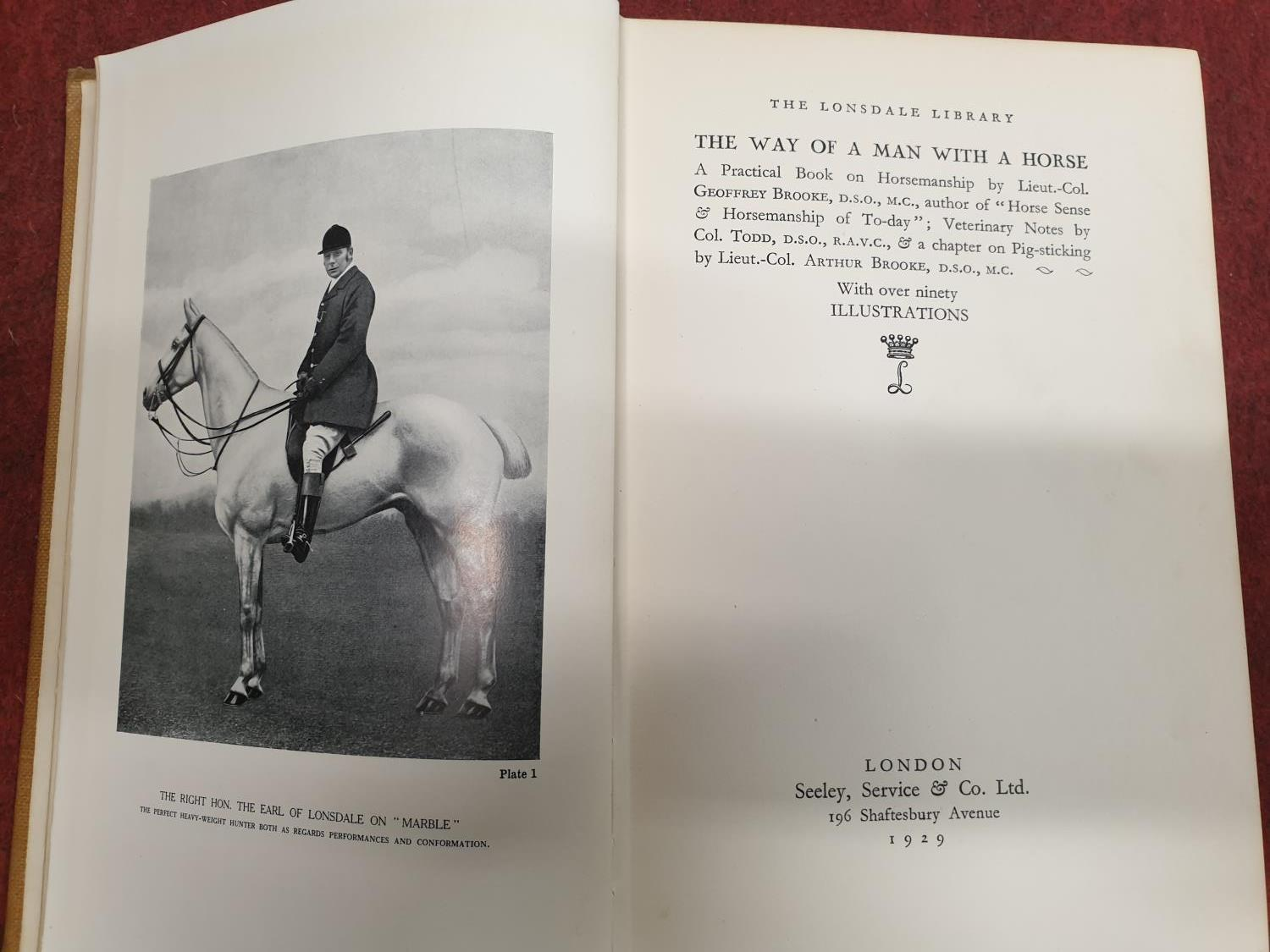 Lot 69C - Six volumes of The Lonsdale Library, The way of a man with a horse x 2, Flat Racing and Trout