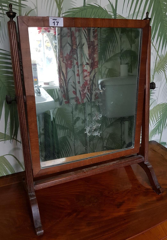 Lot 17 - A 19th Century Mahogany Crutch Mirror. 42cm.