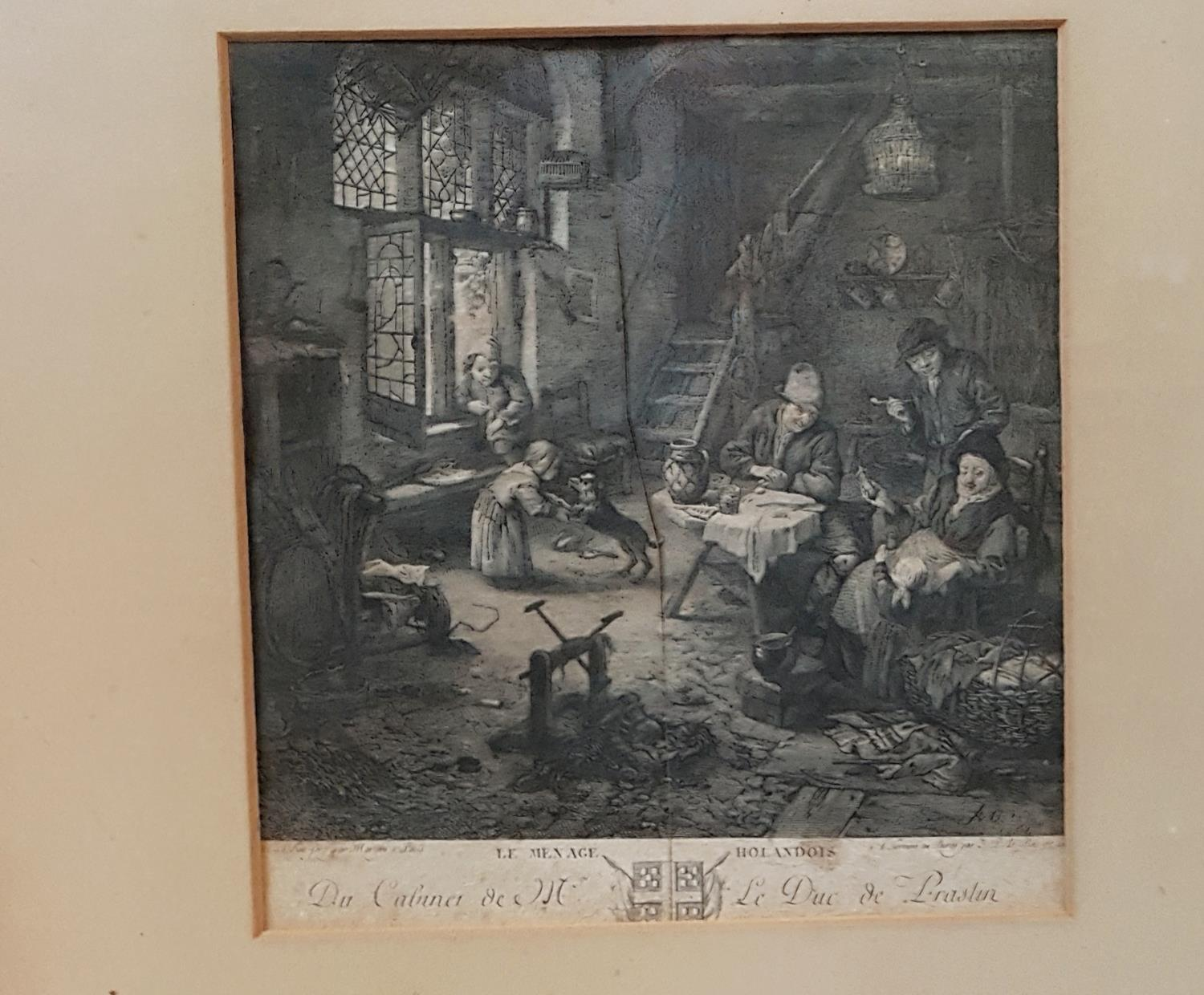 Lot 13 - A 19th Century Black and White Print.