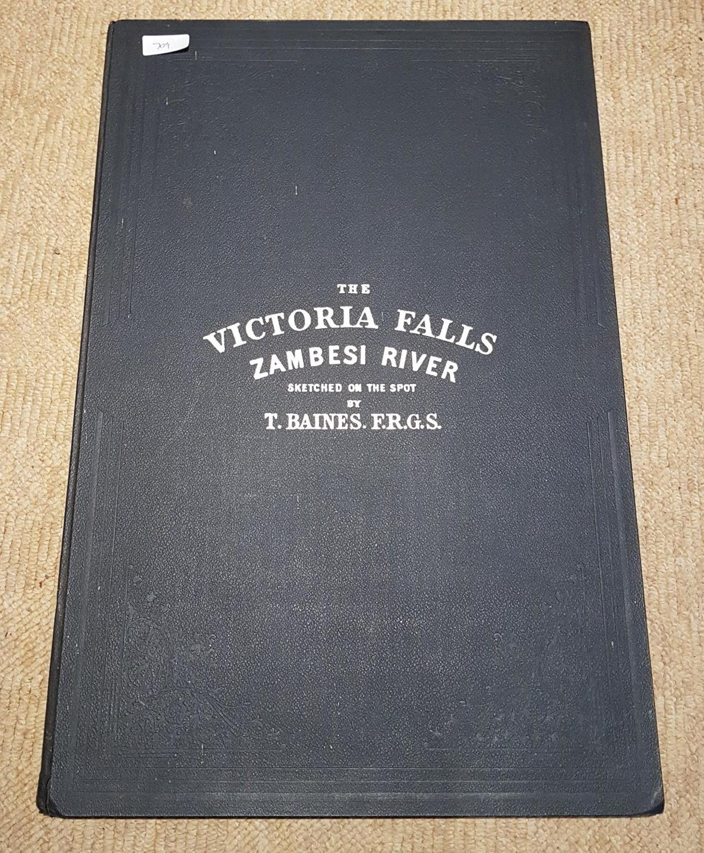 Lot 709 - A quantity of plates in a folder of Victoria Falls, Zambezi river by Thomas Baines 1909.