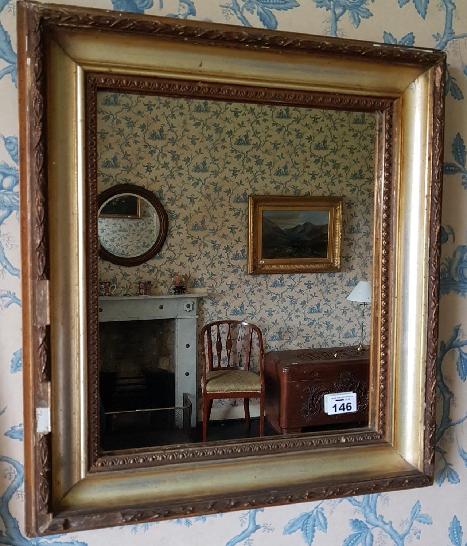 Lot 146 - A 19th Century Gilt Mirror.