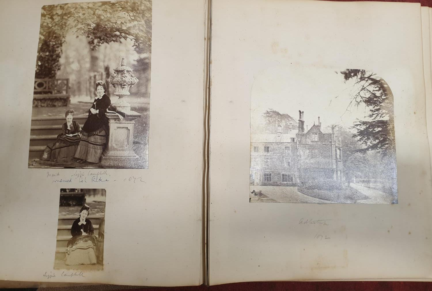 Lot 69B - A Book of old Photos dated 1872 along with another around the turn of the Century 1900 of
