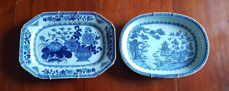 Lot 515 - Two 19th Century Oriental Plates. oval 28 cms x 21 cms 29 cms x 21 cms.