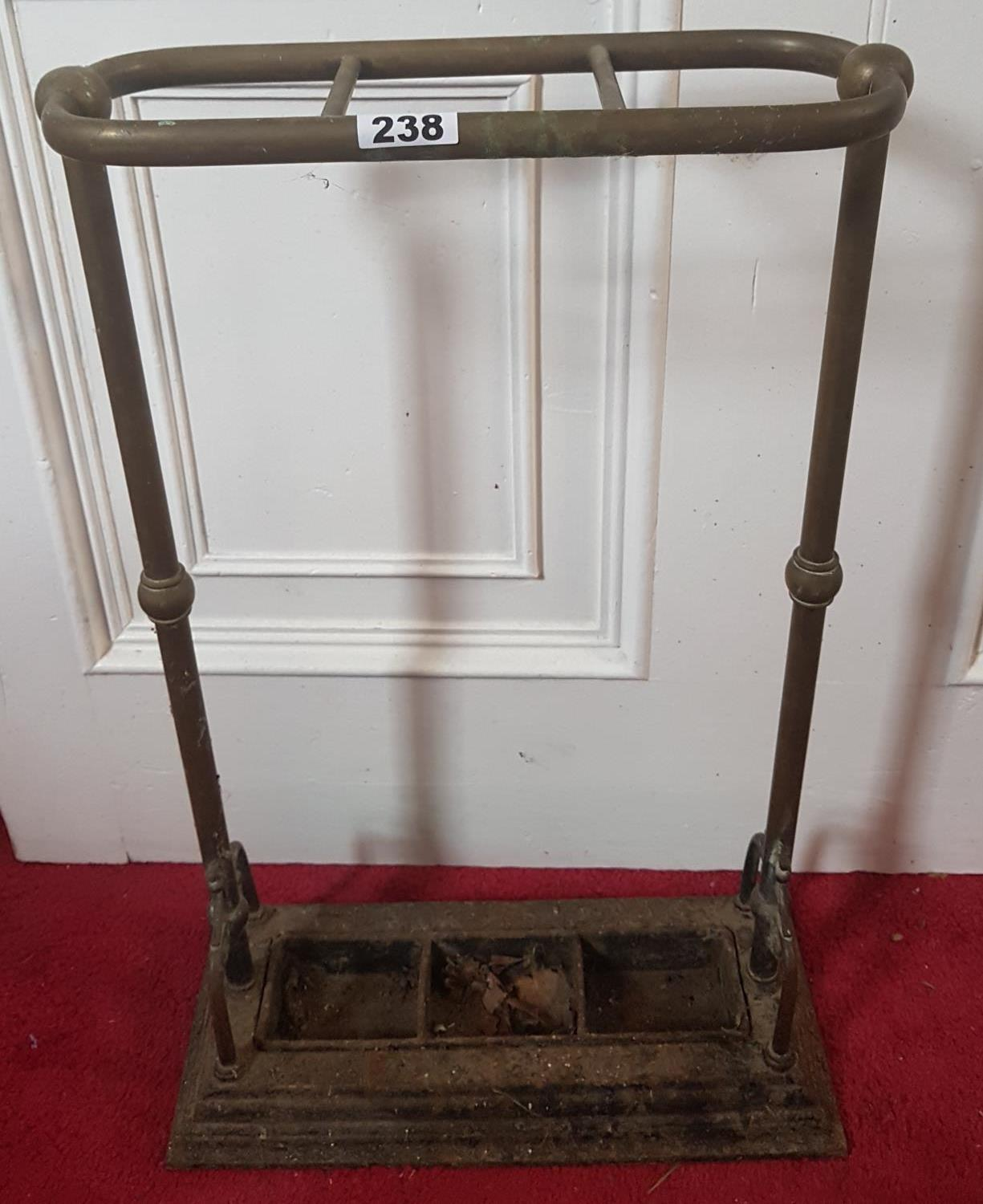 Lot 238 - A 19th Century Metal and Brass Stick Stand.