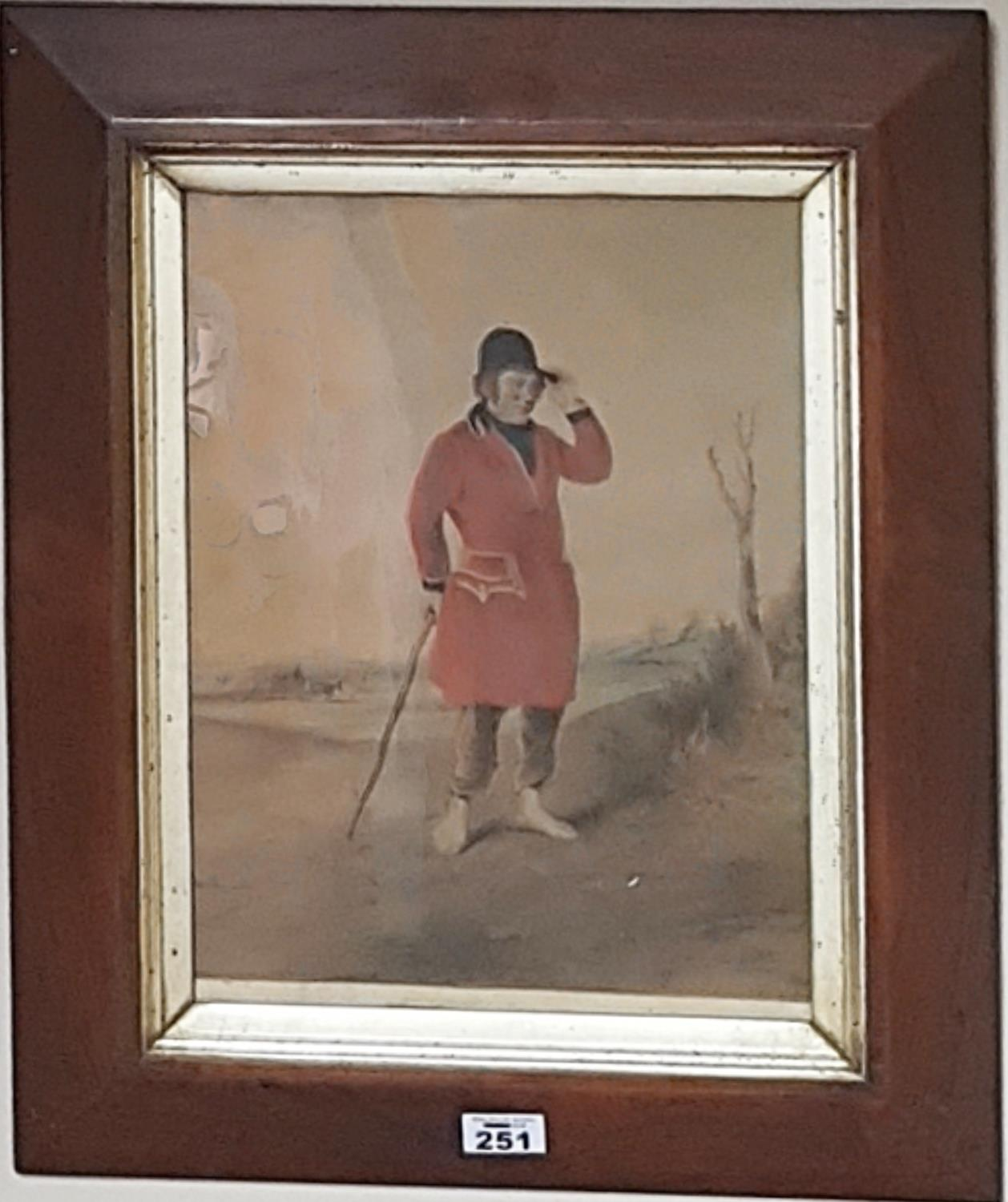 Lot 251 - A 19th Century Coloured Print of a Huntsman.