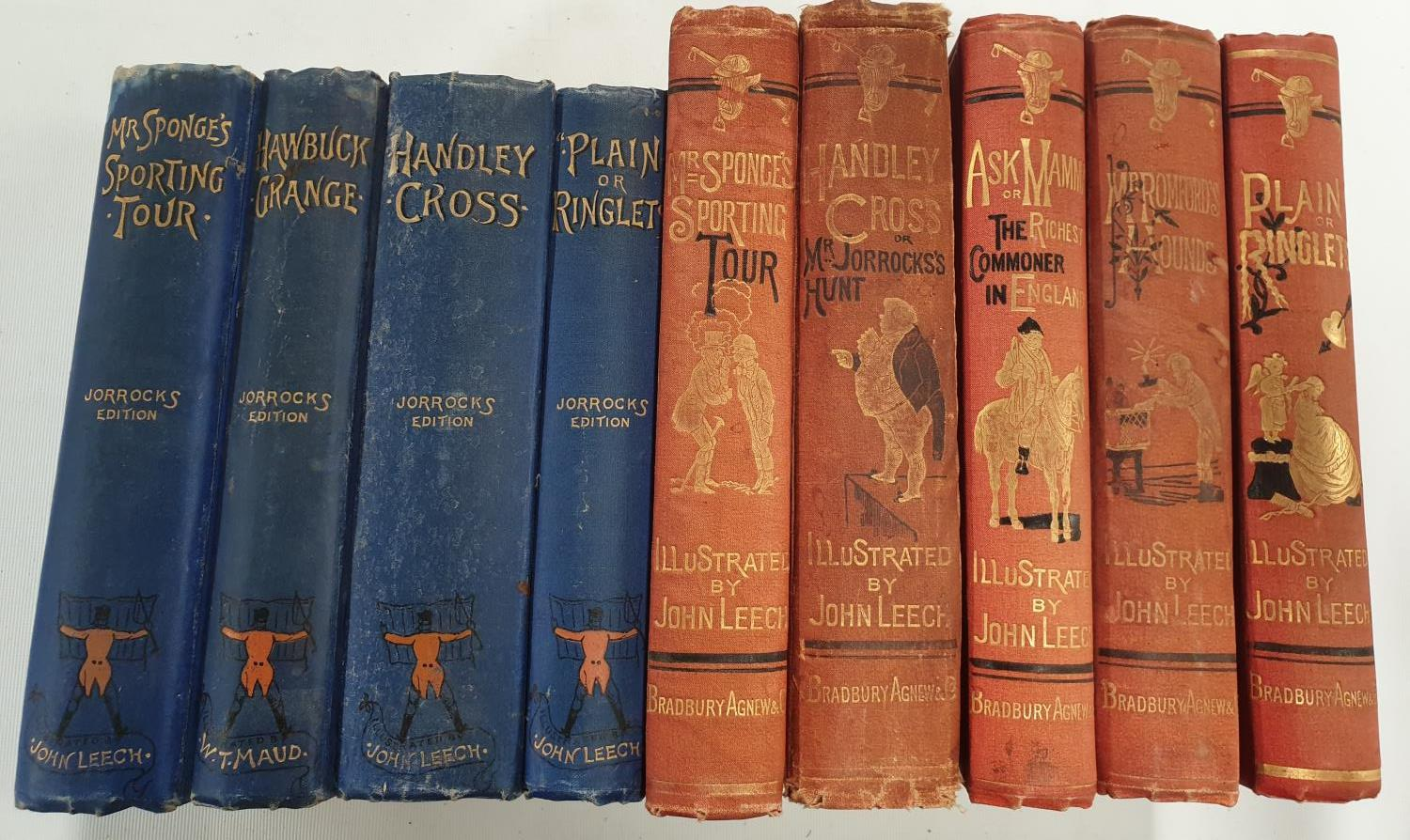 Lot 175 - An original set of five Bradbury, Agnew & Co Books illustrated by John Leech with hand coloured