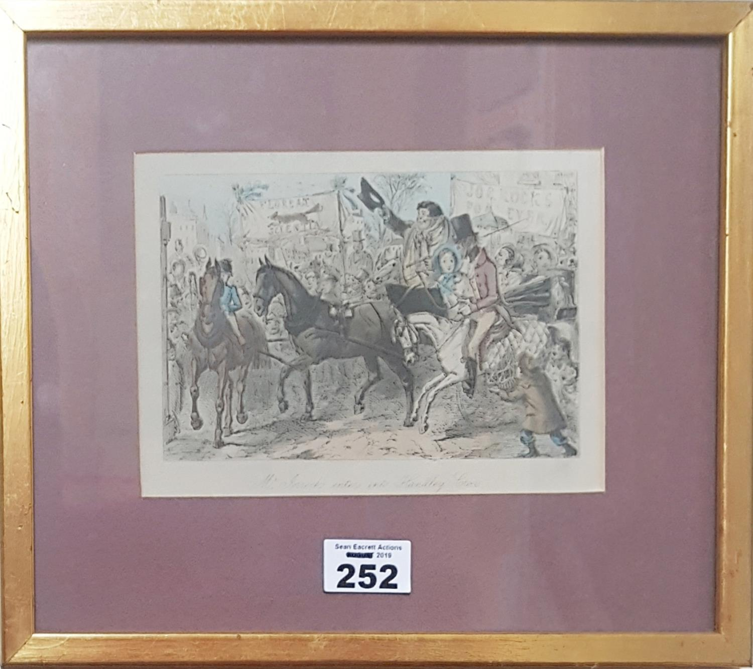 Lot 252 - Two Coloured Engravings.