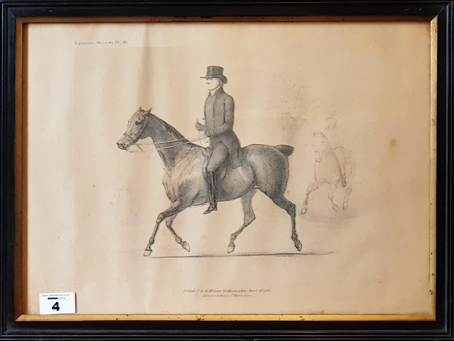 Lot 4 - A 19th Century Engraving of a distinguished Gentleman on horseback published by T McLean, 26