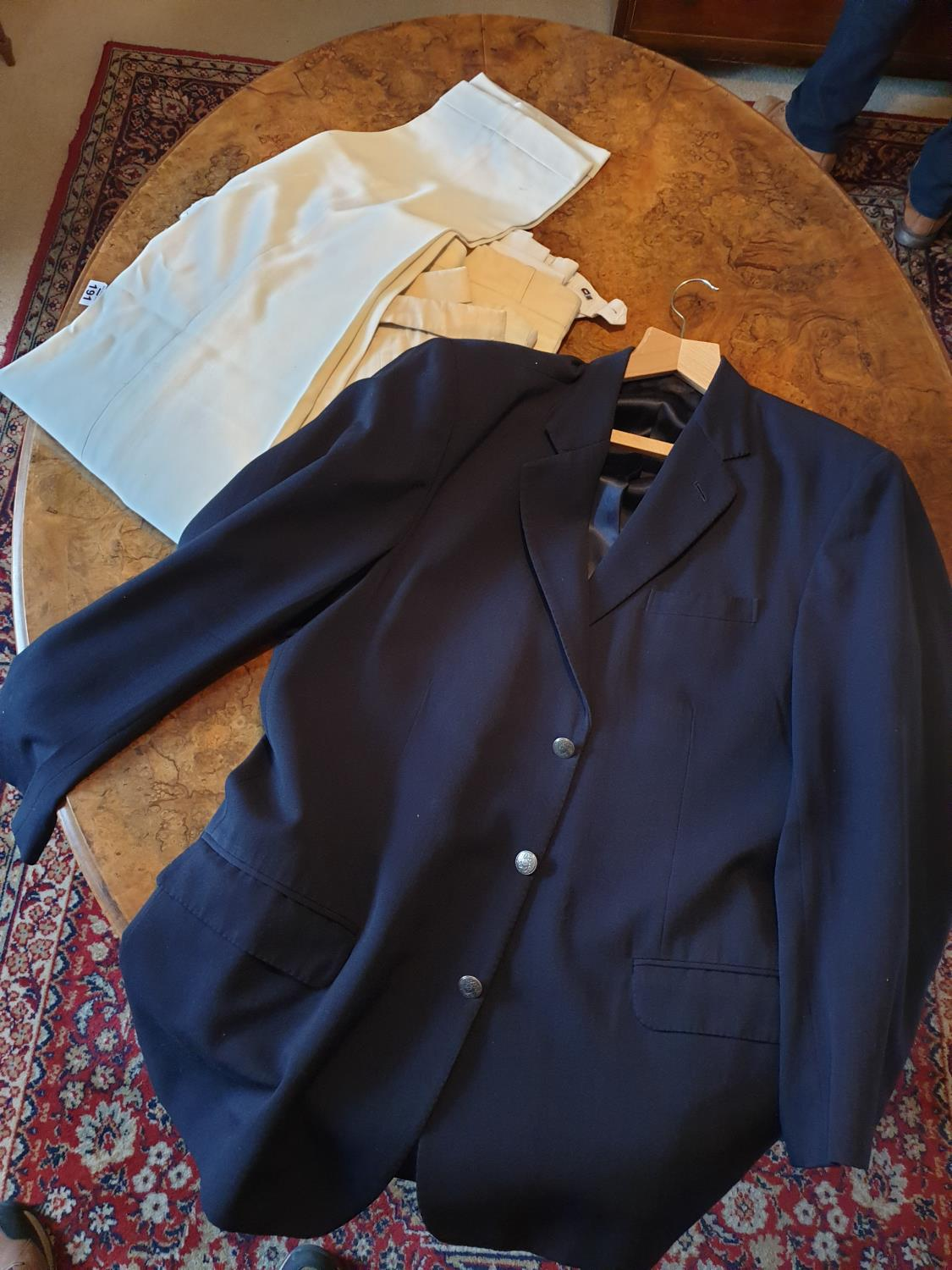 Lot 195a - A quantity of cricket whites and a blazer.