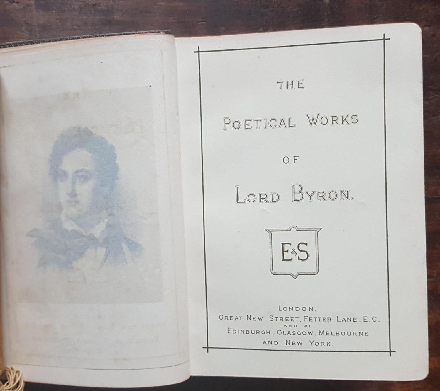Lot 363 - The Poetical works of Lord Byron. E & S London, Edinburgh, Glasgow, Melbourne and New York, along