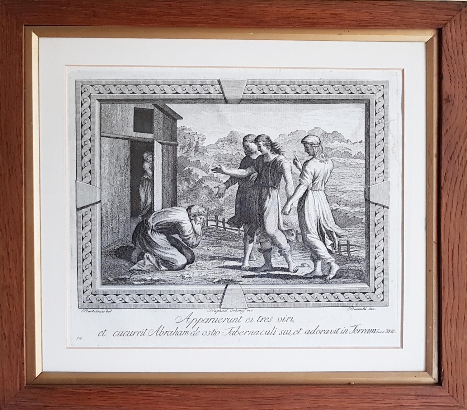 Lot 97 - Two 19th Century Black and White Engravings in simple timber frames.