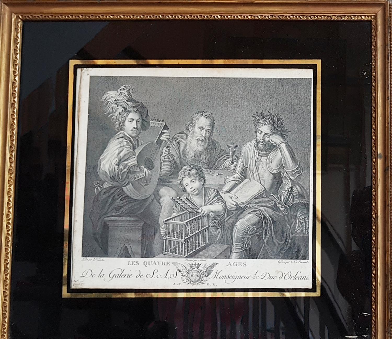 Lot 42A - An 18th Century Engraving 'Les Quatre Ages'.