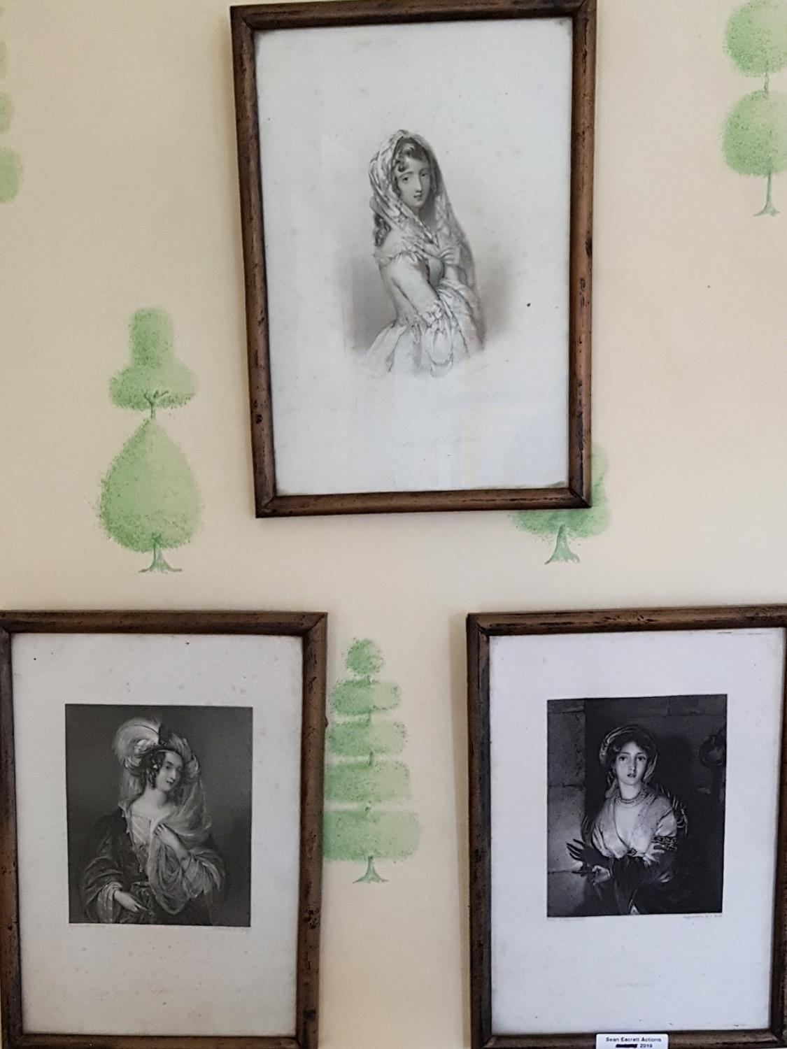 Lot 99 - A good set of six 19th Century Engravings of Women. 8.5cm.