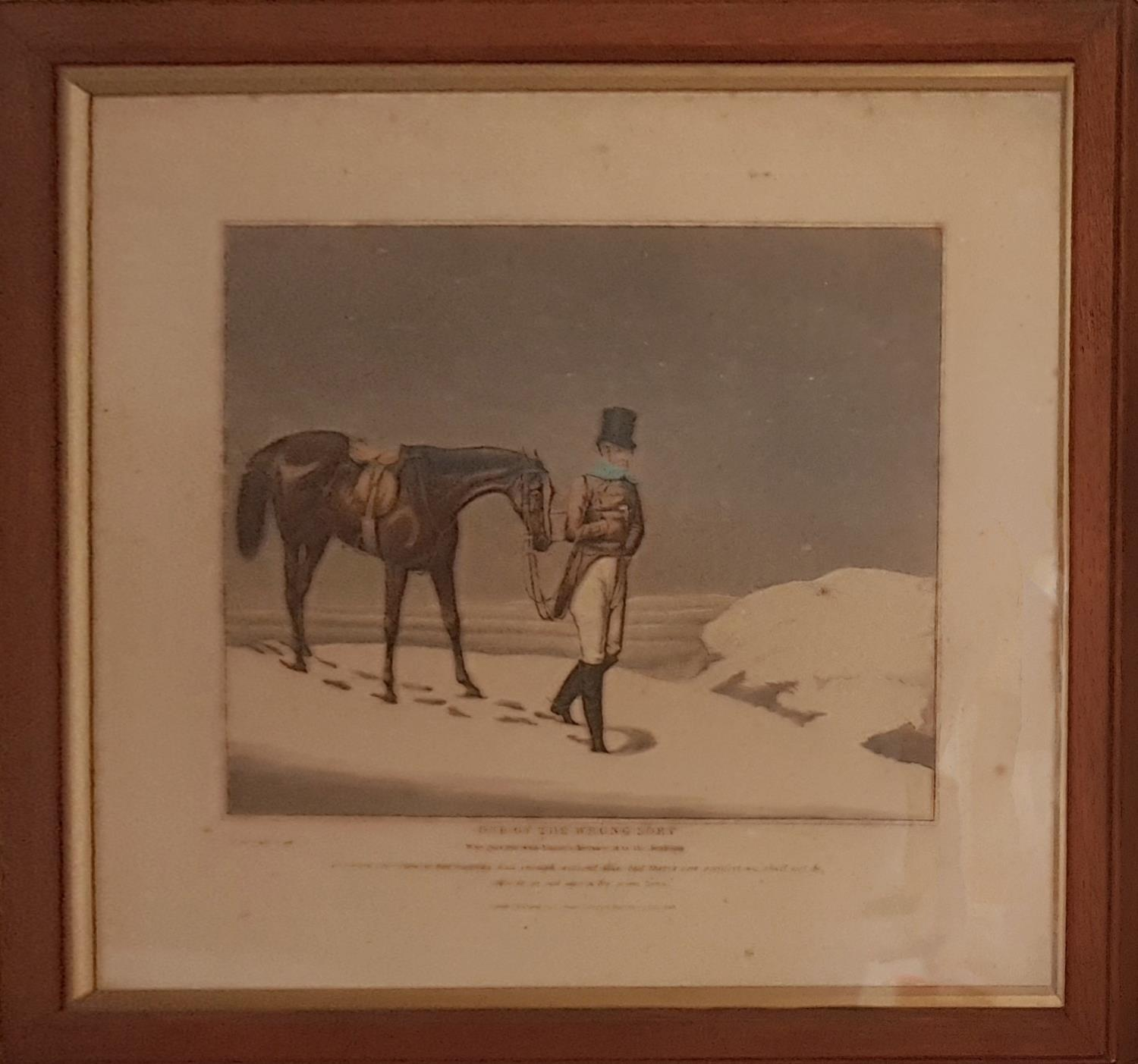 Lot 241 - A pair of early 19th Century Coloured Prints in snowy settings.