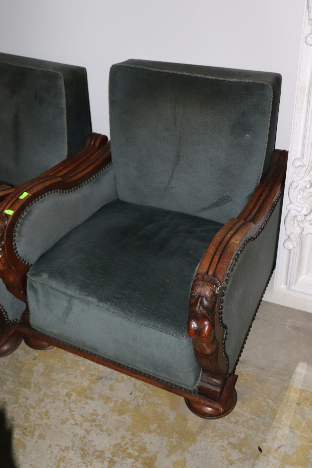 Lot 149 - Carved wooden lounge chair