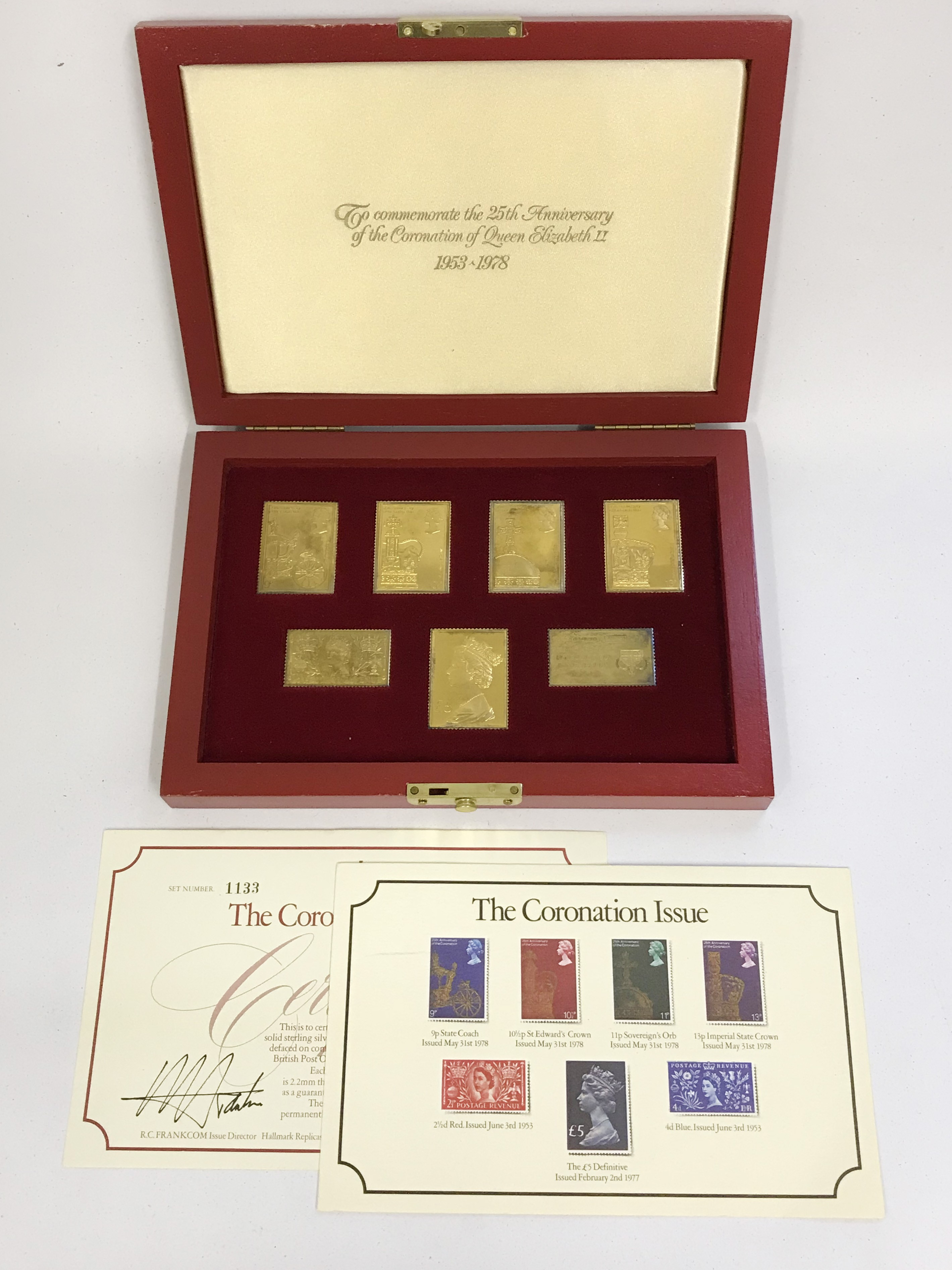 Lot 16 - Hallmarked Silver Stamp Ingots - The Coronation Issue