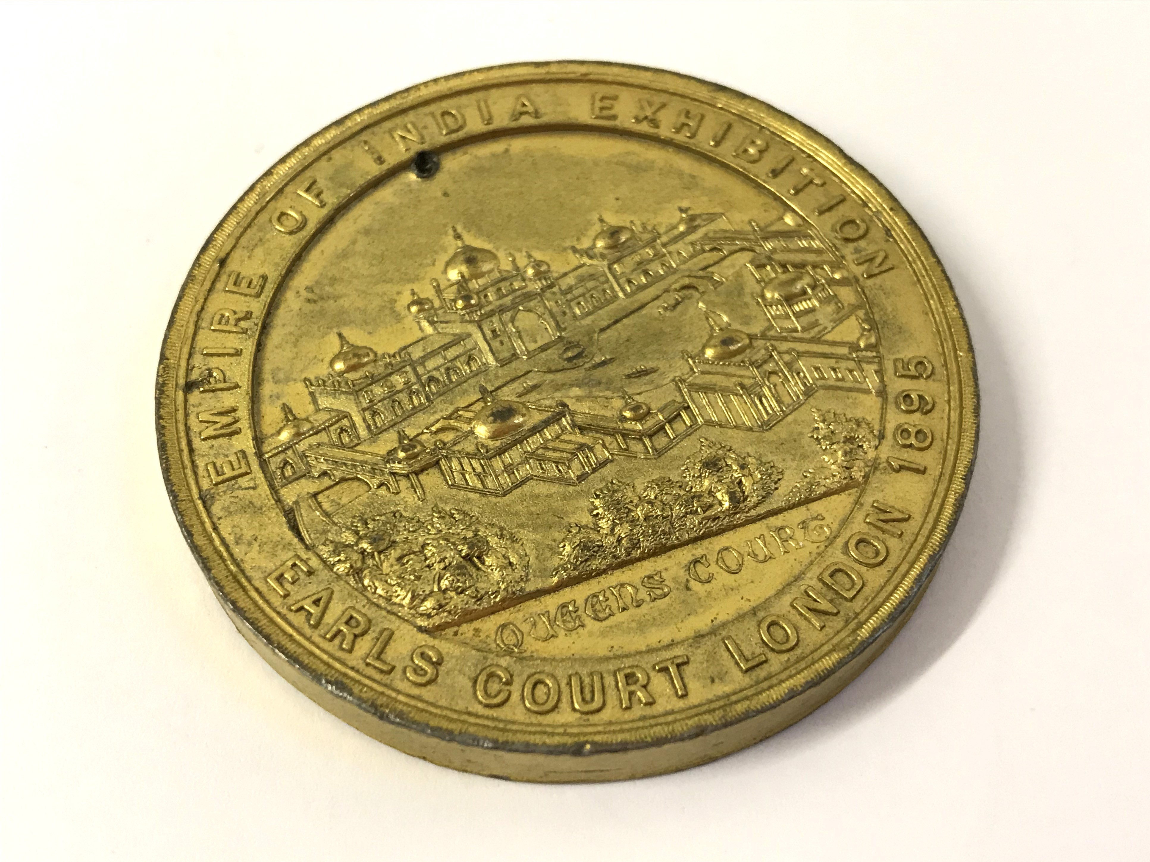 Lot 12 - CONCEPTION & DESIGN OF IMRE KIRALFY MEDAL - EMPIRE OF INDIA EXHIBITION - EARLS COURT LONDON 1895