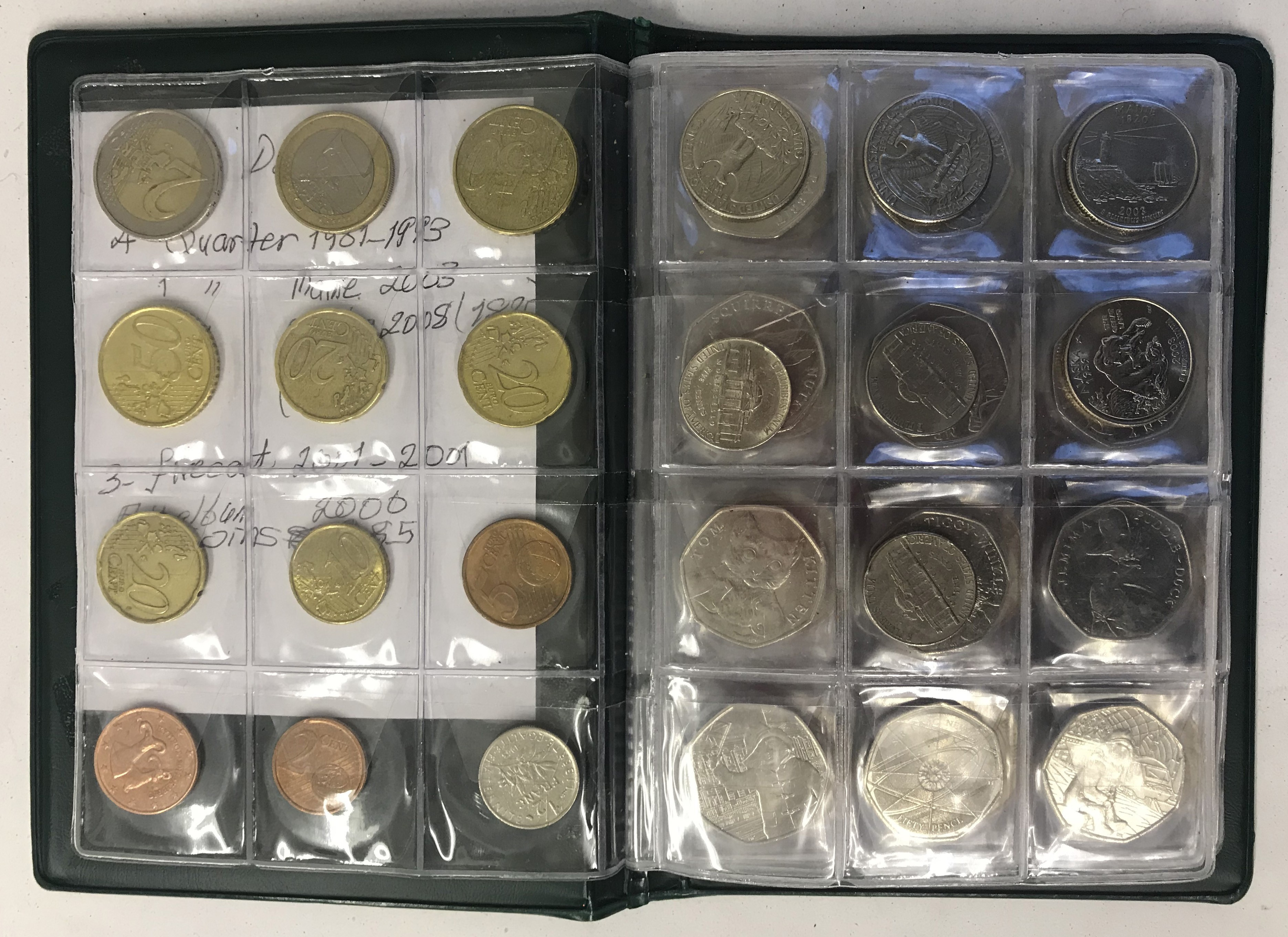 Lot 23 - Small group of various coins inc pound & two pounds coins