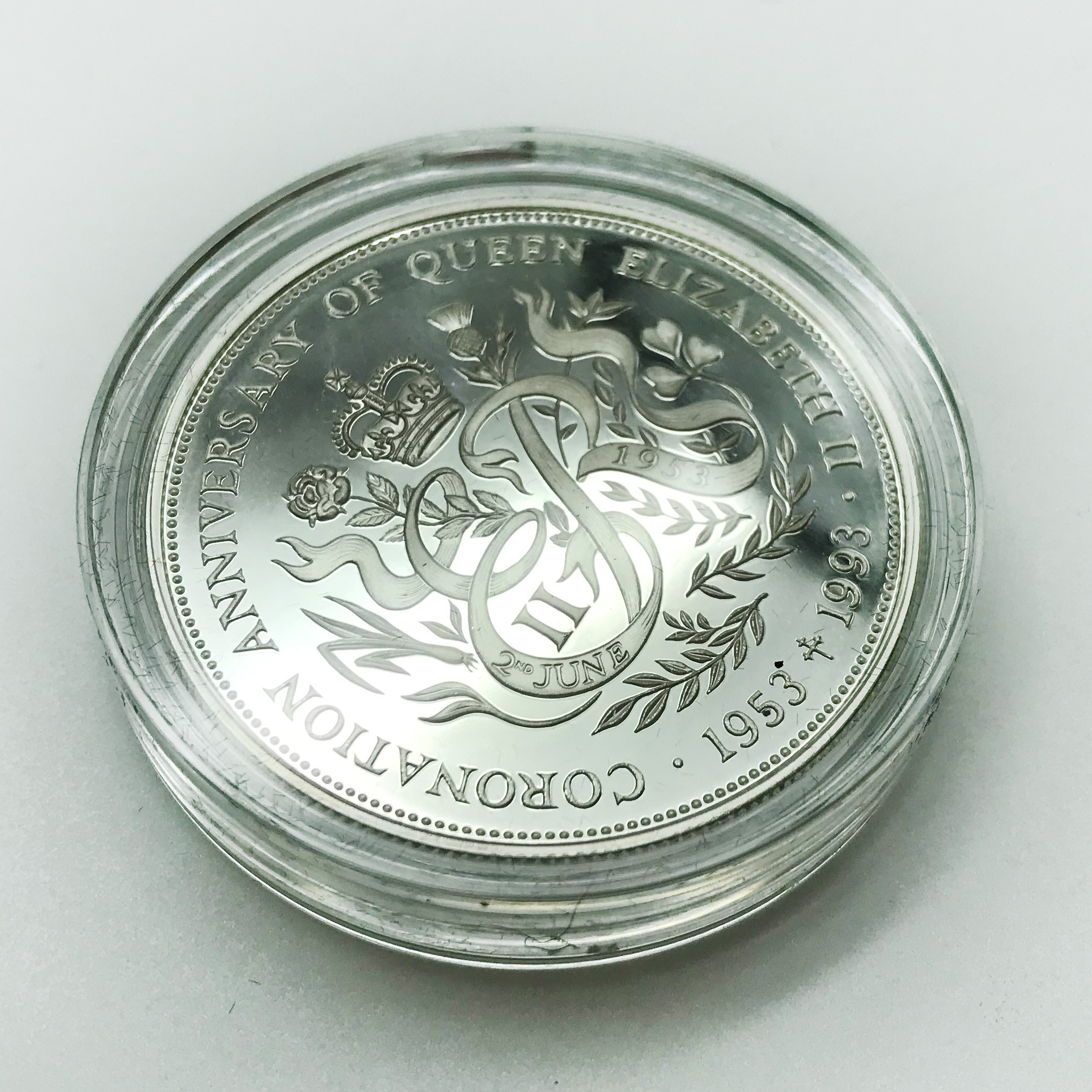 Lot 6 - SMALL GROUP OF SILVER CASED COINS