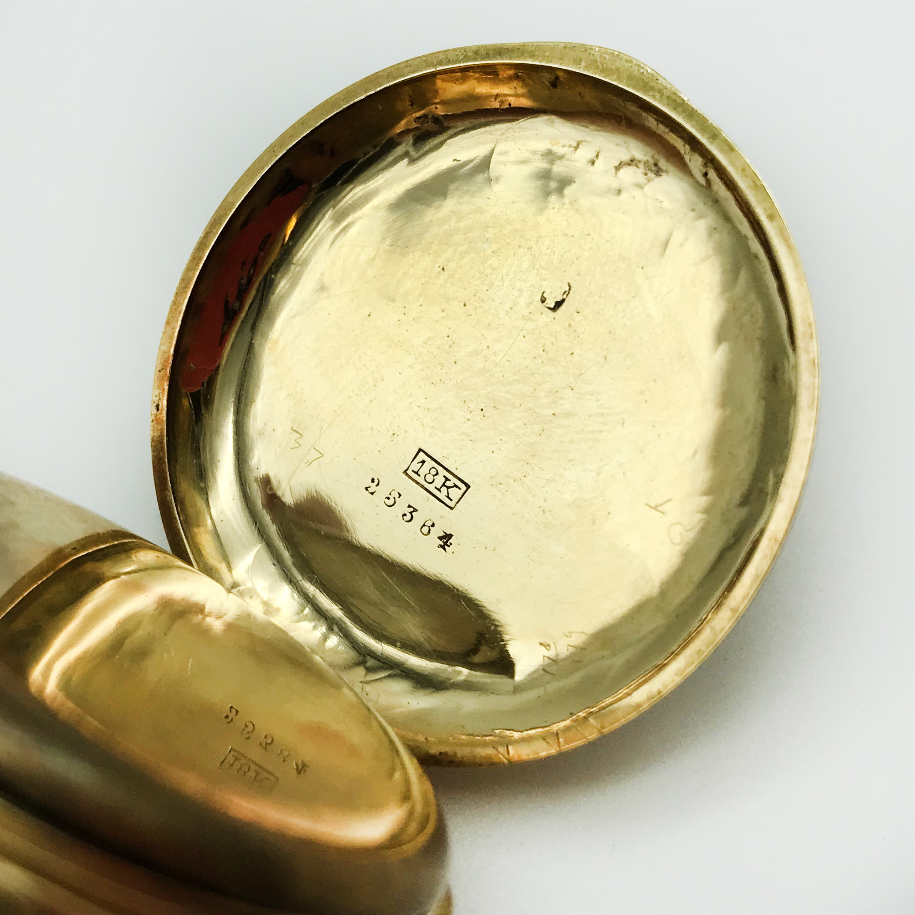 Lot 50 - 18K GOLD FOB WATCH IN WORKING CONDITION