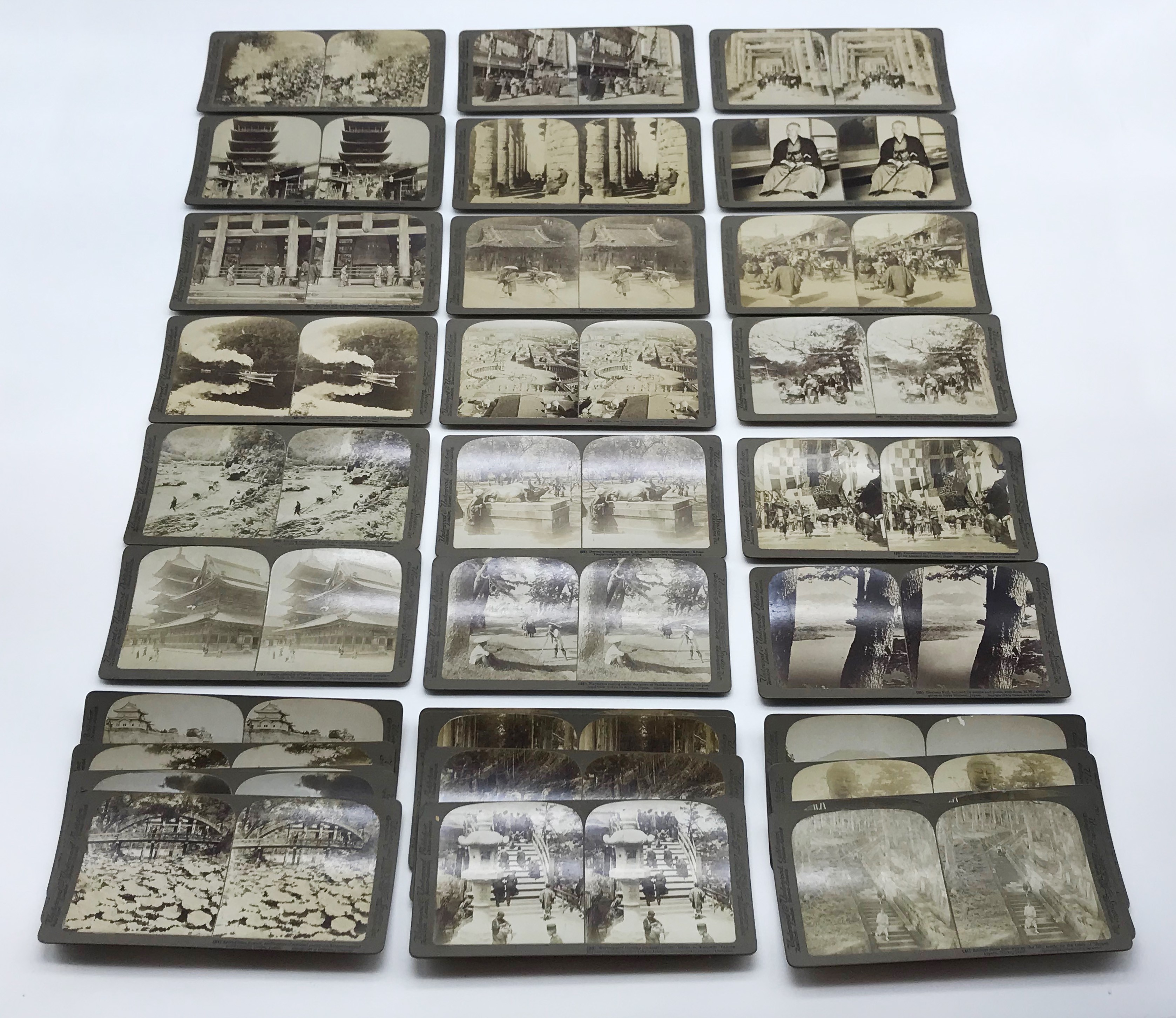 Lot 55 - SELECTION OF JAPANESE RELATED STEREO-VIEWS CARDS
