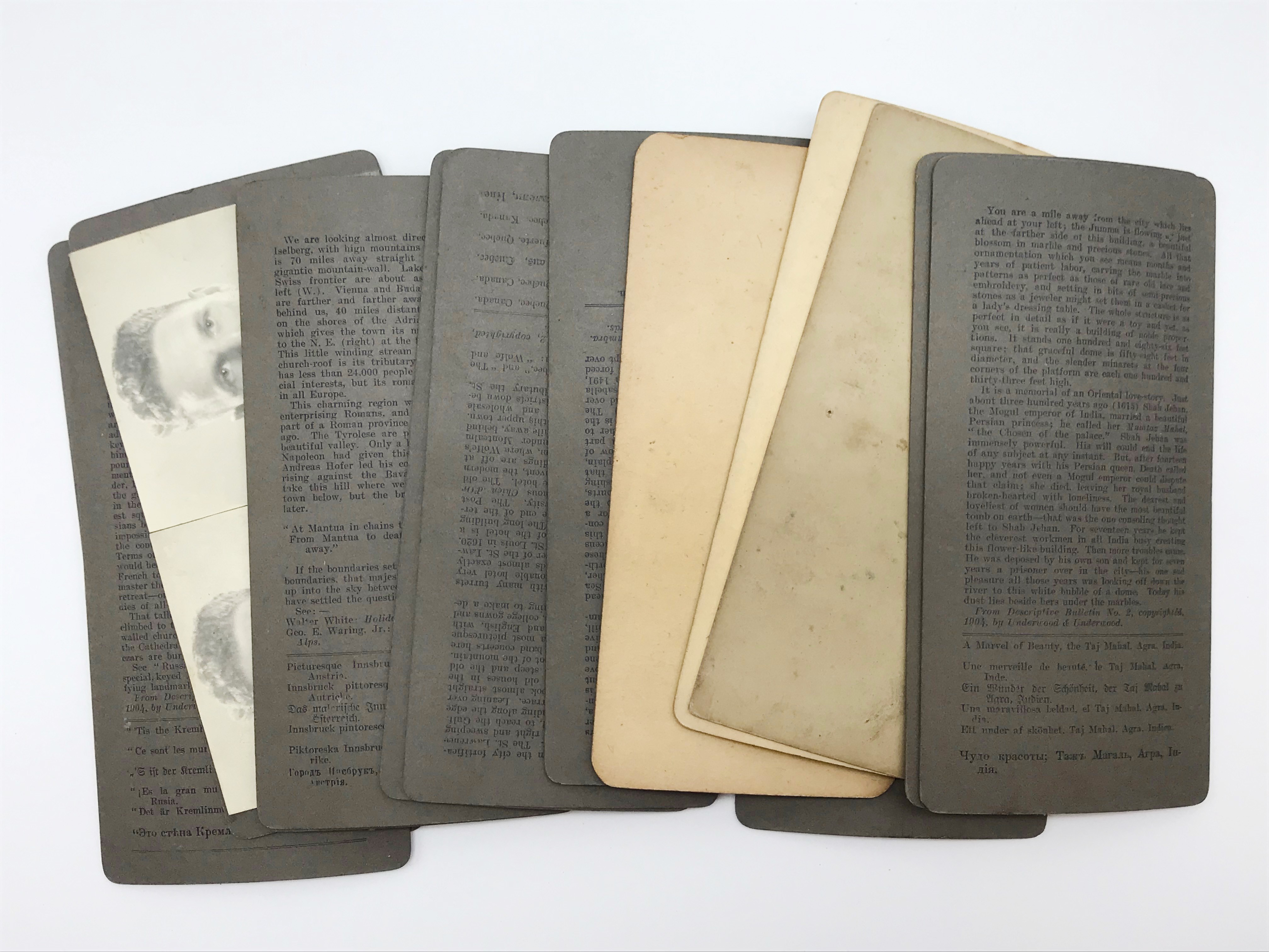 Lot 37 - SELECTION OF VARIOUS STEREO-VIEW CARDS