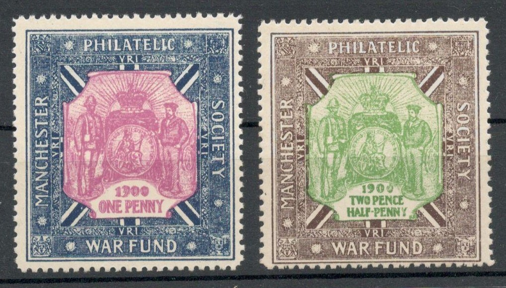 Lot 2 - POSTER STAMPS - 1900 MANCHESTER PHILATELIC SOCIETY WAR FUND