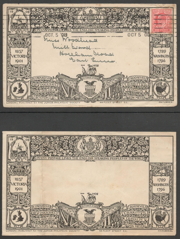 Lot 40 - 1908 ILLUSTRATED ENVELOPES BY JUNIOR PHILATELIC SOCIETY USED & UNUSED