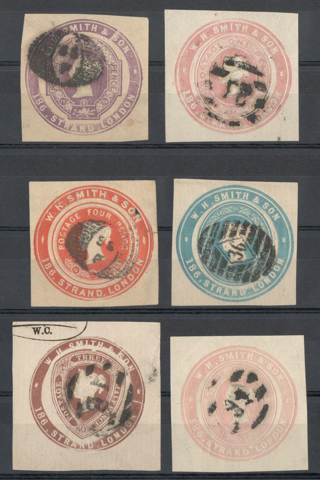 Lot 31 - SIX ADVERTISING RINGS SQUARE CUT - W.H. SMITH & SON