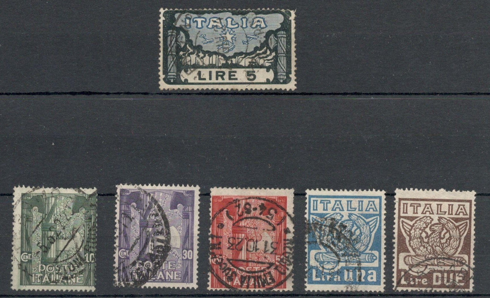 Lot 15 - ITALY 1923 ANNIVERSARY OF THE MARCH OF THE FASCIST ON ROME - USED