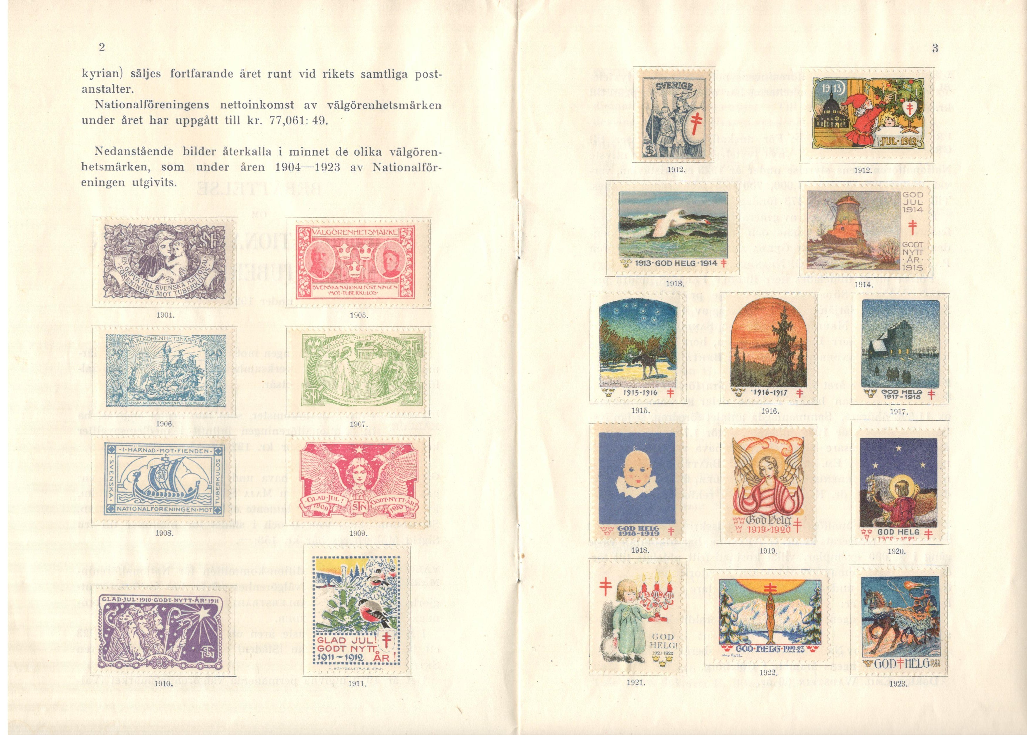 Lot 26 - SWEDISH CHARITY STAMPS 1924